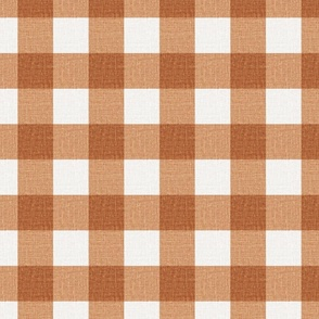 NEW Gingham_Burnt Apricot