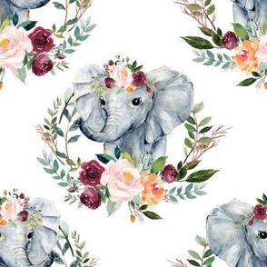 "paprika floral elephant 6"""