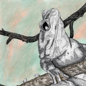 Dotted Frog Tea Towel