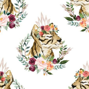 """paprika floral tiger with crown 6"""""""