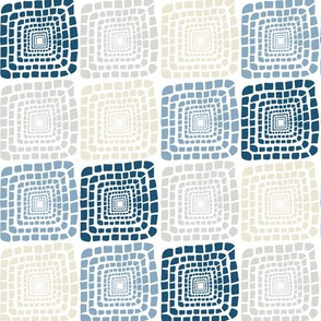 Bohemian Sandcastles- Random: blues & cream, gray