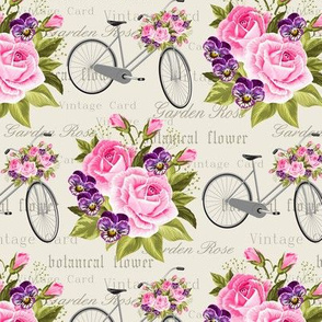 shabby bikes and roses