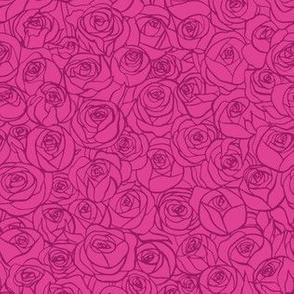 ranunculus floral - raspberry