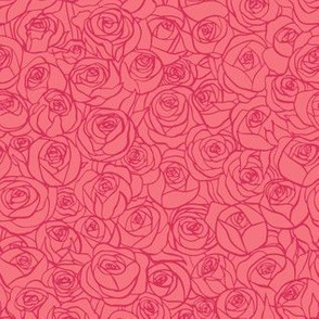 ranunculus floral - salmon