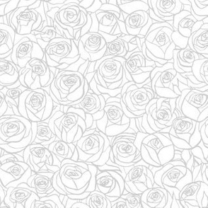 ranunculus floral - grey