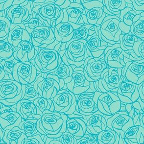 ranunculus floral - turquoise