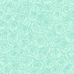 ranunculus floral - mint