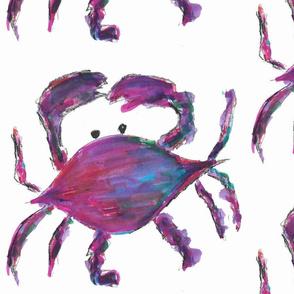 Watercolor purple/fuchsia crabs