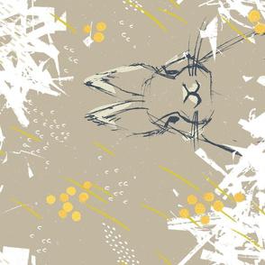 Bunny Portrait M+M Latte by Friztin