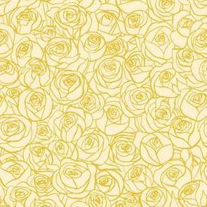 ranunculus floral - cream