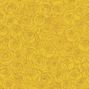 ranunculus floral - mustard