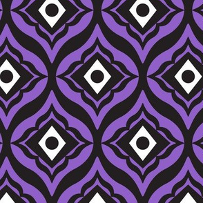 Trevino - Geometric Purple & Black