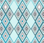 Chain of Rhombus (mint)