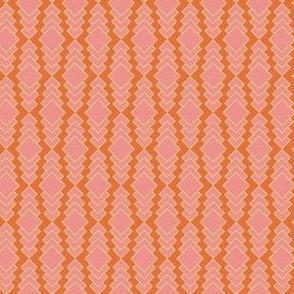 Pink Orange Bohemian Pattern