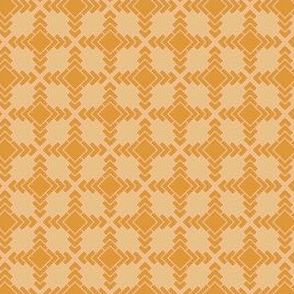 Yellow Orange Bohemian Pattern