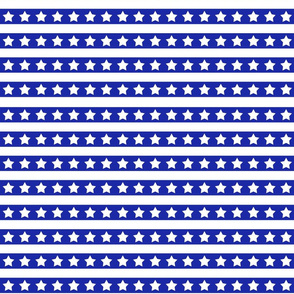 Blue And White Stars And Stripes