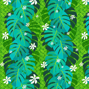 Monstera Tiare Weave II green