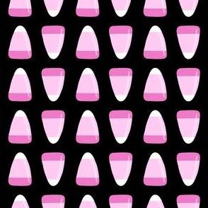 candy corn - pink on black - halloween - LAD19