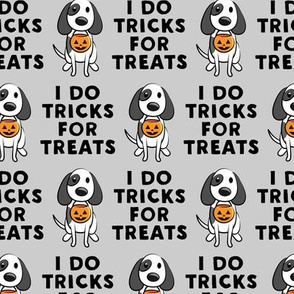 I do tricks for treats - dog halloween - grey - LAD19