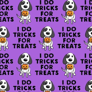 I do tricks for treats - dog halloween - purple - LAD19
