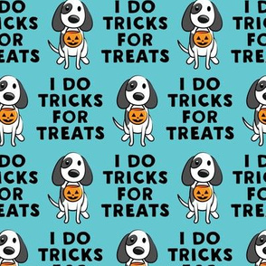 I do tricks for treats - dog halloween - blue - LAD19