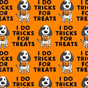 I do tricks for treats - dog halloween - orange - LAD19