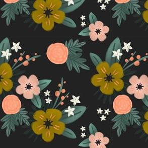 Sweet Floral // Mustard, Pink, Mint