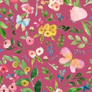 """7"""" Butterfly World Dark Pink"""