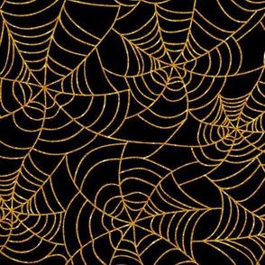 Spider web glitter orange black