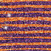 Glitter Stripe orange dark purple
