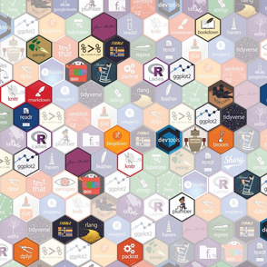 R Hex Fabric (small hexes)