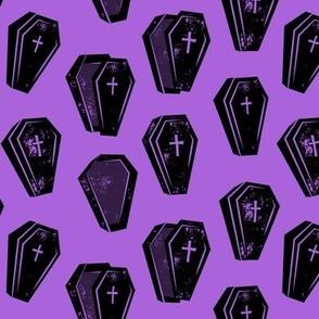 Halloween Coffins - Purple 2 - LAD19