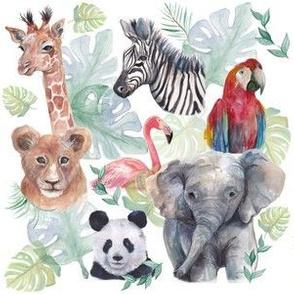 Watercolour Jungle Animal Print
