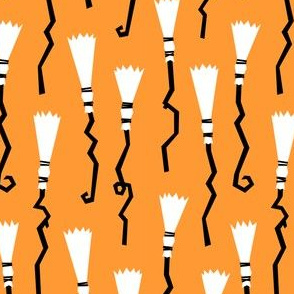 Witches Brooms - orange - halloween - LAD19