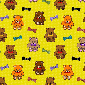 Brownie the Bear & Friends LOVE Bow Ties - marigold spots