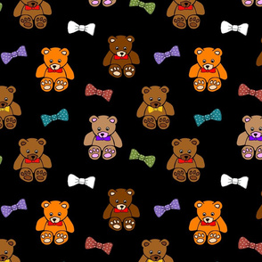 Brownie the Bear & Friends LOVE Bow Ties - black