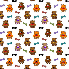 Brownie the Bear & Friends LOVE Bow Ties - white (small)