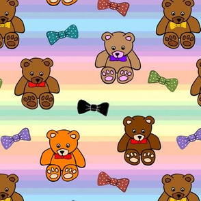 Brownie the Bear & Friends LOVE Bow Ties - rainbow (small)