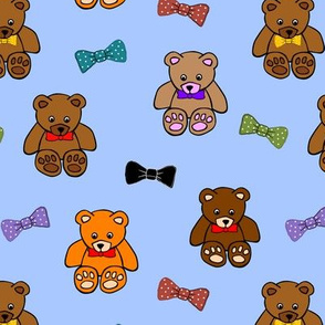 Brownie the Bear & Friends LOVE Bow Ties - sky blue (small)