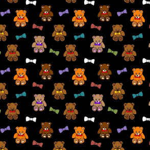 Brownie the Bear & Friends LOVE Bow Ties - black (small)