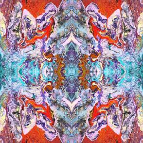 Fluid painting magic of love kaleidoscope