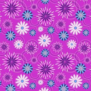 Fireworks on Bright Pink