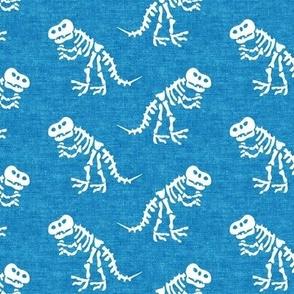 Tyrannosaurus rex bones - dinosaur bones - blue - LAD19