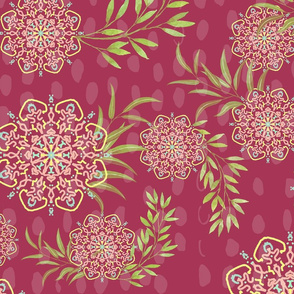 Mandala Flower in dark pink