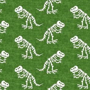 Tyrannosaurus rex bones - dinosaur bones - green - LAD19