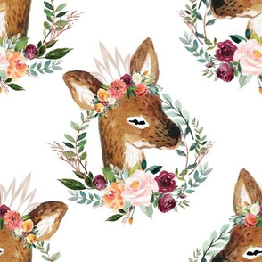 """paprika floral fawn with crown 6"""""""