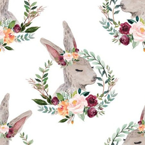 """paprika floral rabbit with a crown 6"""""""