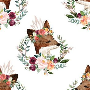 """paprika floral fox with crown 6"""""""