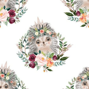 paprika floral hedgehog with crown 6""