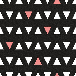 black triangle with coral